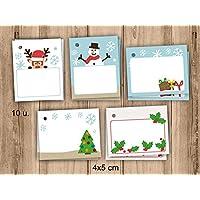10 etiquetas de Navidad. 4x5cm. Pack de 10 unidades. Para poner nombre.