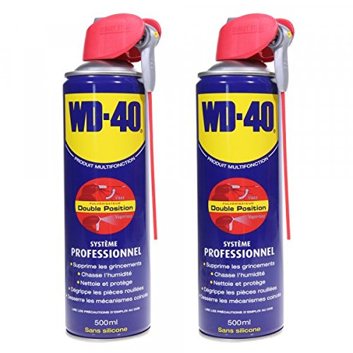 Dégrippant WD40 500 ml Nettoyant, lubrifiant protège corrosion par 2 – Pièce neuve