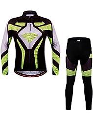 Docooler Vêtements de Cyclisme Unisex Séchage Rapide Respirante Vélo Cycling Jersey Pantalon Costumes Manches Longues Sports de Plein Air