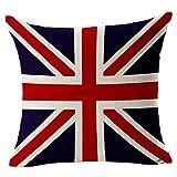 Ababalaya Home Platz Baumwolle Leinen Sofa Kissenbezüge dekorative Kissenbezüge amerikanischen Kanada Flagge mit Reißverschluss von Kenneth Fall,45*45 cm (Englisch)