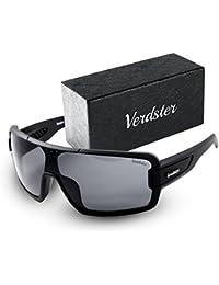 78c02217f8 Verdster Gafas De Sol Gran Tamaño Hombres – Aptos para Conducir – Montura  Envolvente Cómoda con