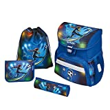 Herlitz Schulranzen Loop Plus Soccer Sac à Dos Enfants, 37 cm, Bleu (Unbekannt)