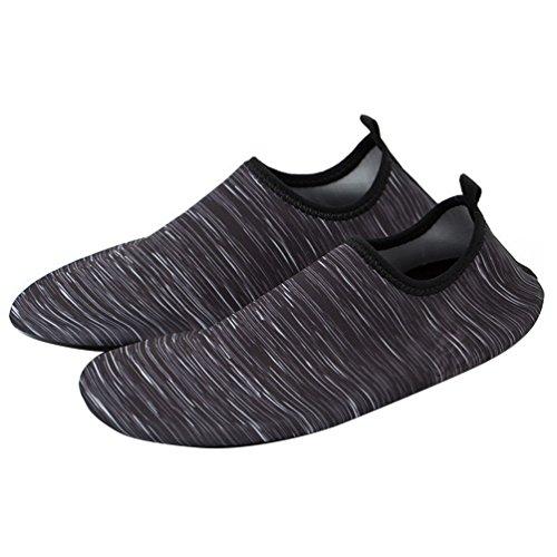 Runacc unisex acqua scarpe elastico Diving antiscivolo della scarpa morbida spiaggia scarpe per uomini e donne, L 41-42 M 37-38