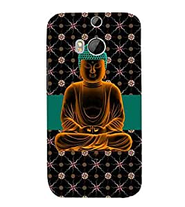 For HTC One M8 :: HTC M8 :: HTC One M8 Eye :: HTC One M8 Dual Sim :: HTC One M8sbudha, god, baghwan, lord, jesus, cristrian, allah Designer Printed High Quality Smooth Matte Protective Mobile Case Back Pouch Cover by APEX