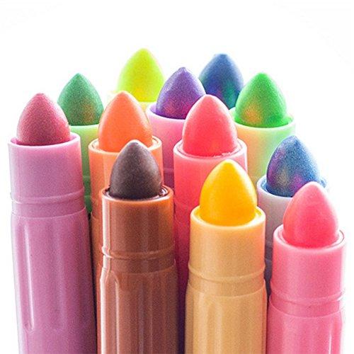 Leisial 12Pcs Pastelli Solidi a Colori 12 Colori Stazionario Penna di Marcatura DIY Penna di Pittura