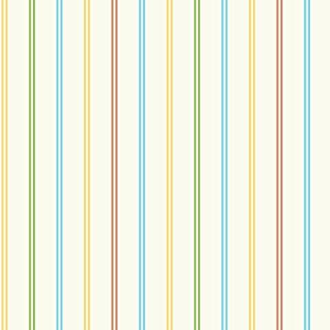 BHF DL30743 Multi-Stripe Wallpaper - Orange