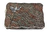 MEMORUM Grabmale Grabplatte, Grabstein, Grabkissen, Urnengrabstein, Liegegrabstein Modell Pure 40 x 30 x 5 cm Paradiso-Granit, Poliert inkl. Gravur (Aluminium-Ornament Taube)