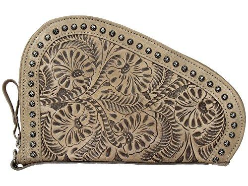 Juicy Couture Leder Braun (American West tolled Leder gepolstert Gun Case Bundle W Flash Licht Schlüsselanhänger, sand)