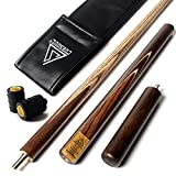 "CUESOUL 57"" Handcraft 3/4 Jointed Snooker Cue With Extension/Joint Protector Packed in Leatherette"