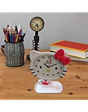 Newest Design Cartoon Character Table Cock with moving Pendulum Clock, Kids Room-KITTY