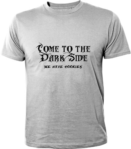 Mister Merchandise T-Shirt Come To The Dark Side. We Have Cookies - Uomo Maglietta S-XXL - Molti