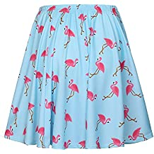 Mujer Verano Falda, Moda Adelgazar Cintura Alta Swing Skirt con Patrón de Animal Elegante Cintura