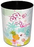 alles-meine.de GmbH Papierkorb / Behälter -  Flamingo & Hibiskus Blume - Hawaii...