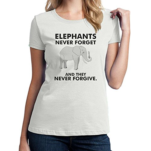 Elephants Never Forget And They Never Forgive Small Donne T-Shirt