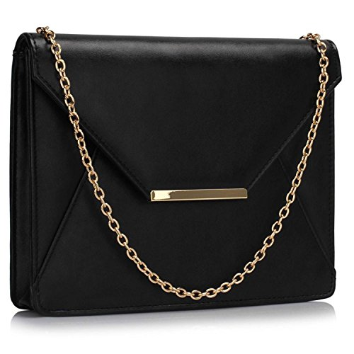 L And S Handbags, Poschette giorno donna Black