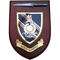 Royal Marines Military Wall Plaque with Pewter Model
