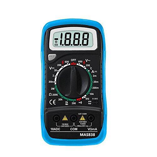 BSIDE 2000 Wörter Hand Digital-Multimeter Temperatur und Schutzhülle (Lehre Hände Uhr)