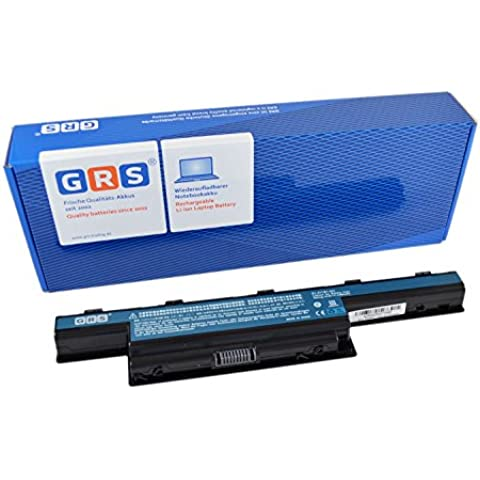 GRS bateria para ACER Aspire 7741G, 5742G, 7750G, 5741ZG, 5733, 5560G, 5250, 5552, 7560, 5750G, 7551G, ACER TravelMate 5740, 8472, 5760, 4740, compatible con AS10D31, AS10D75, AS10D51, AS10D73, AS10D61, AS10D71, AS10G3E, AS10D41, AS10D3E, LC.BTP00.123, para portátil con 4400 mAh/48Wh, 10,8V, Li-Ion bateria, Laptop