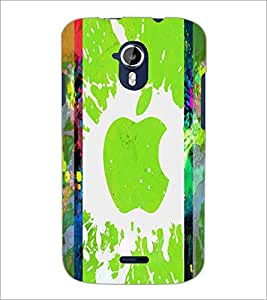 PrintDhaba Apple D-2887 Back Case Cover for MICROMAX A116 CANVAS HD (Multi-Coloured)