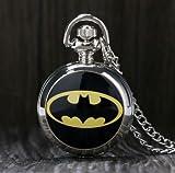 #9: Batman Quartz Pocket Watch with Batman Logo | Case Included