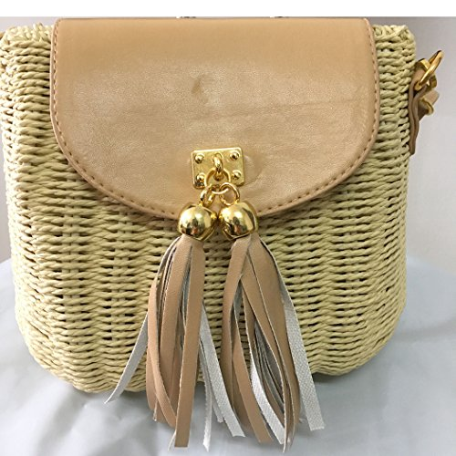 FAIRYSAN, Borsa a tracolla donna verde Darkolivegreen small Beige