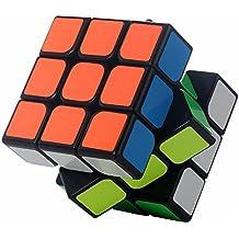 Yongjun Guanlong 3x3x3 enigmas de la torcedura del cerebro mágico del rompecabezas del cubo velocidad Profesional (negro)