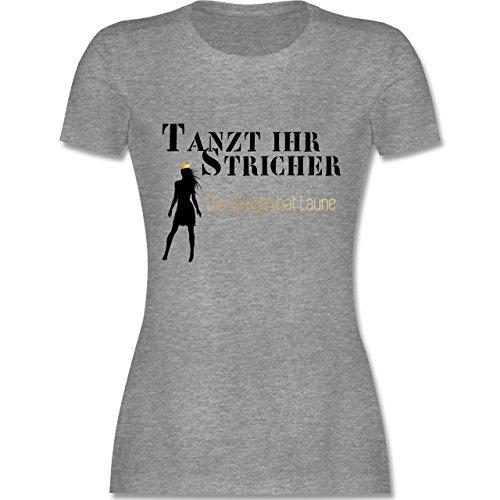 Mädchen Frauen T-Shirt Tanzt Ihr Stricher die Königin hat Laune WEISS Porno Sex