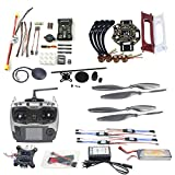 Qwinout DIY FPV Drone Quadcopter 4-axle Aircraft Kit :F450 450 Frame + PXI PX4 Flight Control + 920KV Motor +GPS + AT9 Transmitter + Gimbal Camera Mount from QWinOut