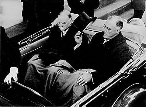 Vintage photo of Franklin Delano Roosevelt and Herbert Clark Hoover