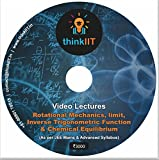 #10: IIT JEE Lecture Videos: Roational Mechanics, Inverse Trigononmetric Fucntios, Limit and Chemical Equilibrium : In DVD