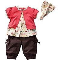 Le SSara Neonate Summer Style 3 PEZZI vestiti regolati Outfits: