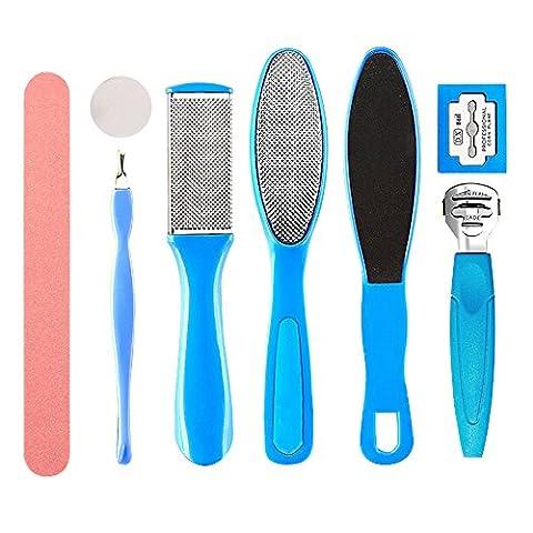 Contever® 1 Satz von 8 Stück Pediküre Fusspflege Set Pediküre Scheren Häutchen Grooming Utility (Mädchen Bad-accessoires)