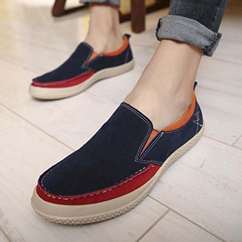ZXCV Outdoor Schuhe Casual Herren Schuhe einfache Schuhe Schuhe Leder Trend wilden faulen Schuhe Dunkelblau