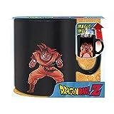 Dragonball Z - Keramik Thermoeffekt Tasse Riesentasse 460 ml - Son Goku & Shenlong Logo - Geschenkbox