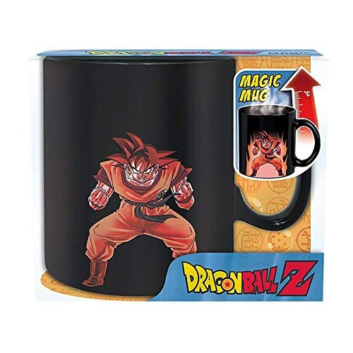 Dragonball Z - Keramik Thermoeffekt Tasse Riesentasse 460 ml - Son Goku & Shenlong Logo - ()