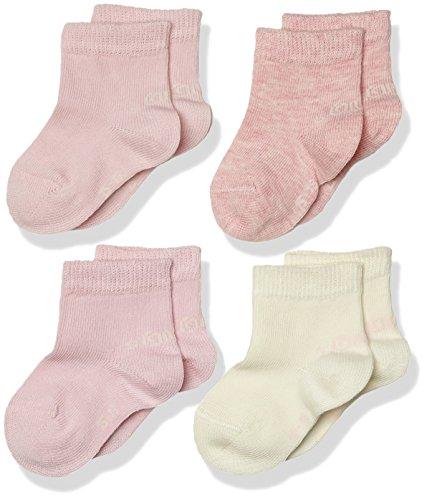 s.Oliver Socks Unisex Baby Fashion Socks 4p, 4er Pack, Rosa (Rosé 12), 19/22