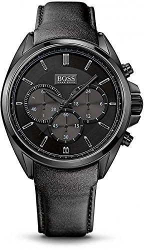 Hugo Boss Herren-Armbanduhr XL Driver Chronograph Quarz Leder 1513061