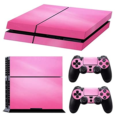 TOOGOO(R) Pink Vinyl Decal Skin Sticker Cover For PS4 Playstation 4 Console & 2 Controller by SODIAL(R)