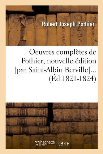Oeuvres complètes de Pothier (Éd.1821-1824)