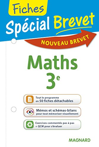 Spécial Brevet - Fiches Maths 3e - Nouveau programme 2016
