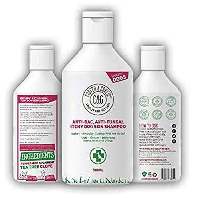 C&G Pets | Anti-bac Anti-fungal Itchy Dog Skin Shampoo | Fast Absorbing Natural | Instant Muscular Cooling First Aid Relief for Dogs Muscles | Great for Cuts Grazes Skin Irritation Insect Bite Sting from Cooper and Gracie