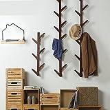 WEII appendiabiti in legno da parete, decorazione per camera da letto soggiorno gancio porta asciugamani, Brown, 123 * 22 * 7cm