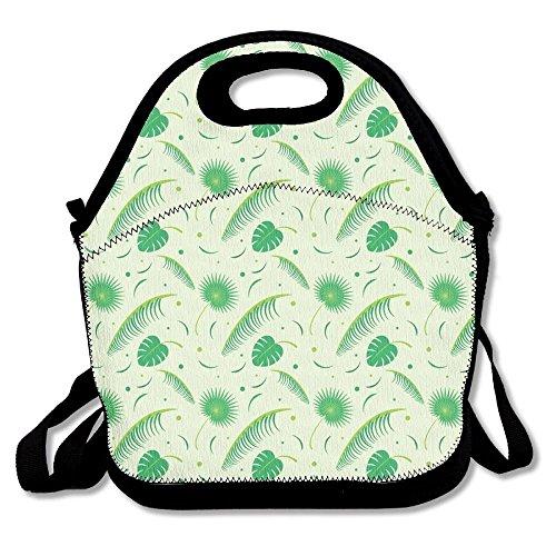 Preisvergleich Produktbild Palm Leaf Portable Lunch Tote Bags, Takeaway Lunch Box, Outdoor Travel Fashionable Handbag For Men Women Kids Girls