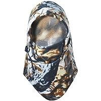 HiseaMultiuso termica in pile con cappuccio passamontagna caldo Ski Bike Wind Stopper Full Face Mask (Cappuccio Foderato Hat)