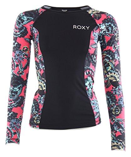 Roxy Damen Waves L/S J Sfsh MLJ5 L/Sl Surf Tee, Rouge Red-Stripe_3, S