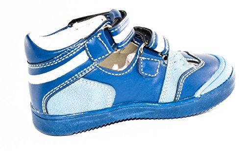 TMY 1218 fermé sandales tendance pour garçon bleu/blanc-modèle 2015 21–26 taille : Multicolore - Blau/ Grau
