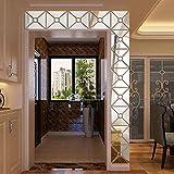 Moginp Wandaufkleber,Blume Vogel Muster Moderner Spiegel Wandsticker Entfernbarer Abziehbild Wand Aufkleber Ausgangsraum DIY (c)