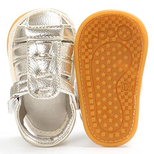 BZLine® Baby Kleinkind Sandalen rutschfest Kleinkind ersten Wanderer Sommer Schuhe Gold