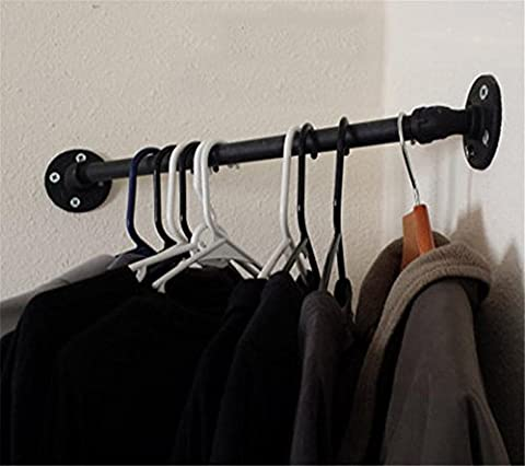 FHLYCF American industrial retro iron pipes, hat racks, clothing stores, hanging clothes bars, hanging racks, display racks, kitchen utensils, hanging pole,