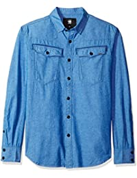 G-Star Raw Men's 3301 Long Sleeve Button Down Shirt Imperial